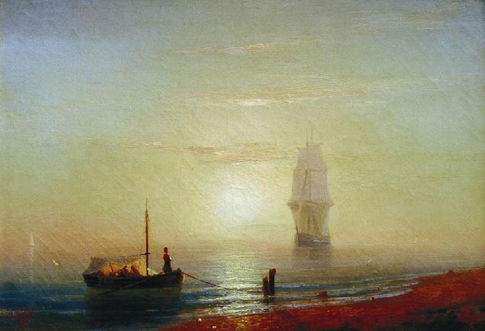 Закат на море. 1848 год.