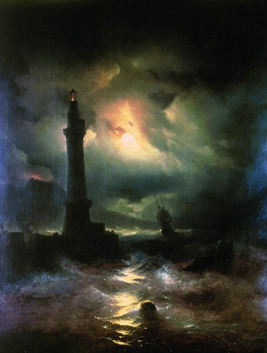 Неаполитанский маяк. 1842 год.