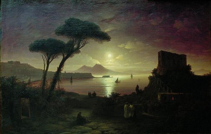 Неаполитанский залив в лунную ночь. 1842 год
