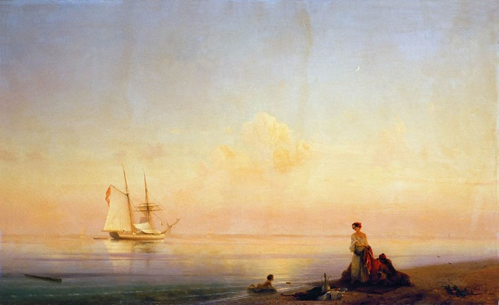 Берег моря. Штиль. 1843 год.