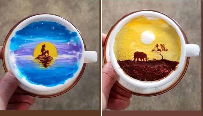 Кофе латте от Ли Кан Бин.  Фото :  www.odditycentral.com