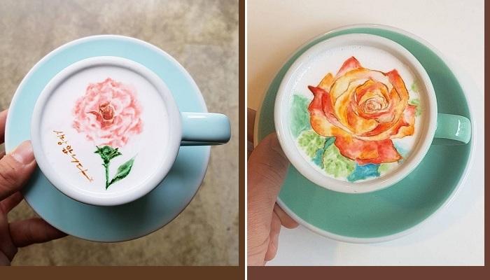 Кофе латте от Ли Кан Бин. Фото : eva.ru / odditycentral.com