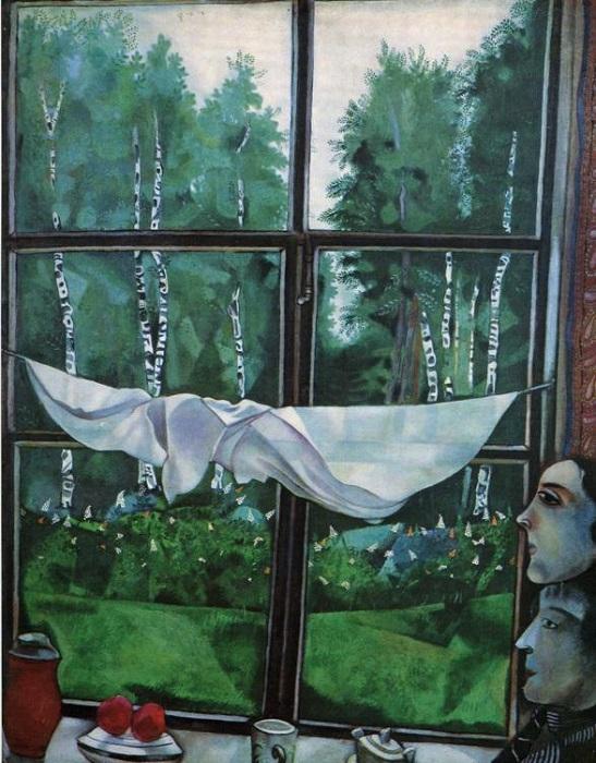 «Окно на даче». Государственная Третьяковская галерея. Автор: Марк Шагал.