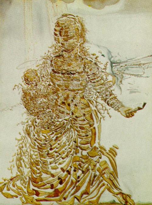Взрывающаяся Мадонна. (1951). Автор: Сальвадор Дали.