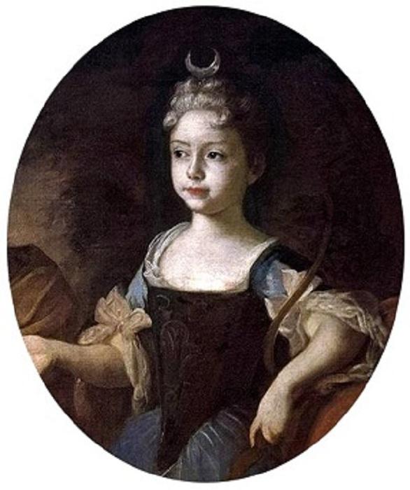 Царевна Наталья Алексеевна в детстве.