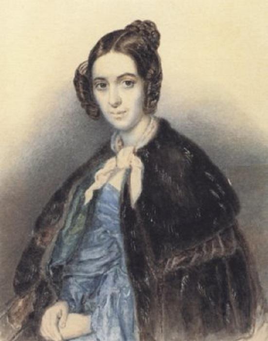 Варвара Репнина-Волконская.(1845). Автор: Т.Шевченко.