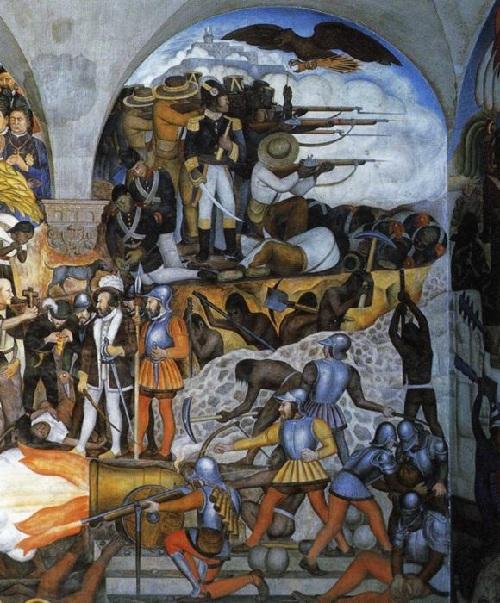 История Мексики.(1929). Автор: Диего Ривера.