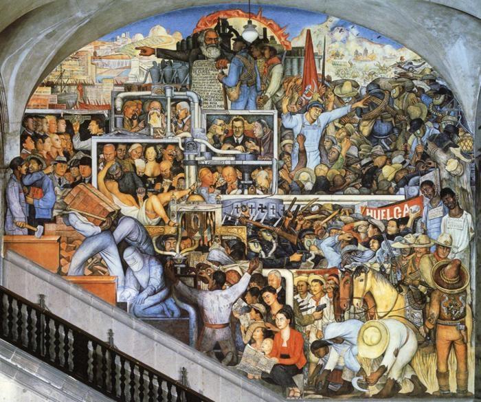 История Мексики - Мир сегодня и завтра. (1929). Автор: Диего Ривера.