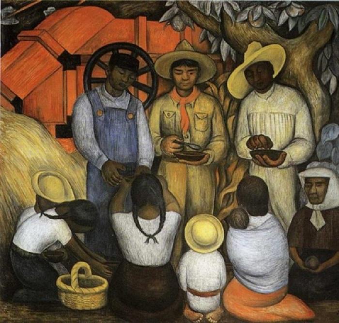 Триумф Революции. (1926). Автор: Диего Ривера.