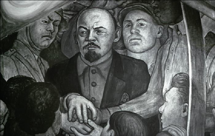 Фрагмент фрески. Автор: Диего Ривера.