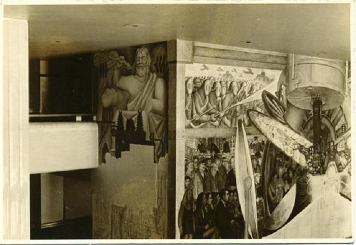 Фрагмент росписи «Человек на перепутье». (1933). Автор: Диего Ривера.