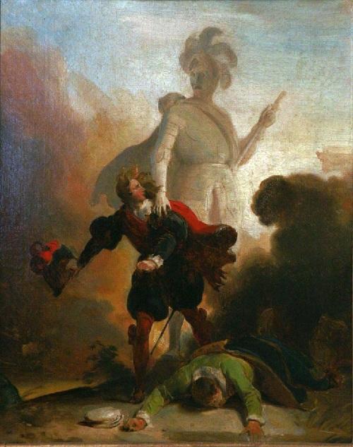 Дон Жуан и статуя Командора. Автор: А.Э.Фрагонар. ¦  Фото: wikipedia.org.