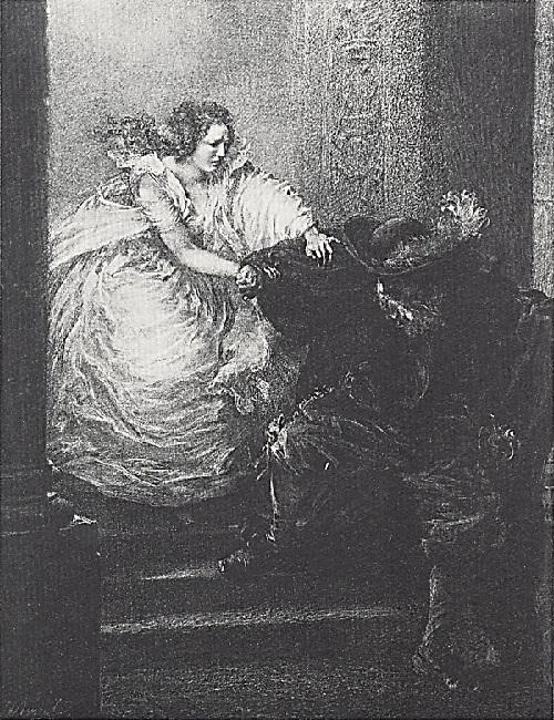 Дон Жуан покидает Донну Анну. Автор: Адольф фон Менцель. ¦ Фото: livemaster.ru.