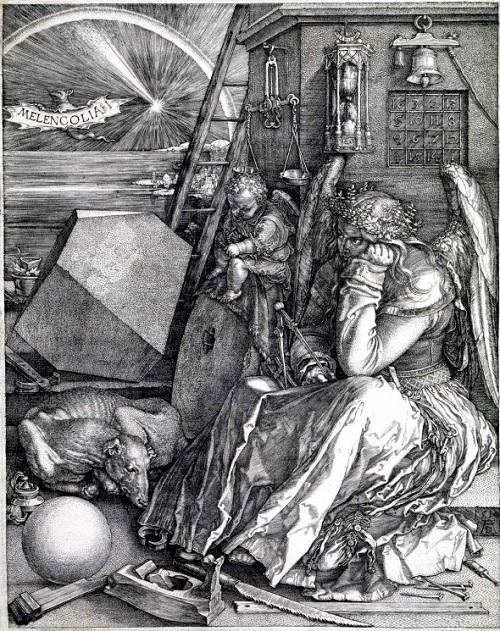 «Меланхолия I». (1514). Автор: Альбрехт Дюрер. ¦ Фото: kaplyasveta.ru.