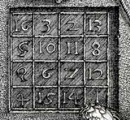 Магический квадрат. Фрагмент гравюры «Меланхолия I». Автор: А. Дюрер. ¦ Фото: kaplyasveta.ru.