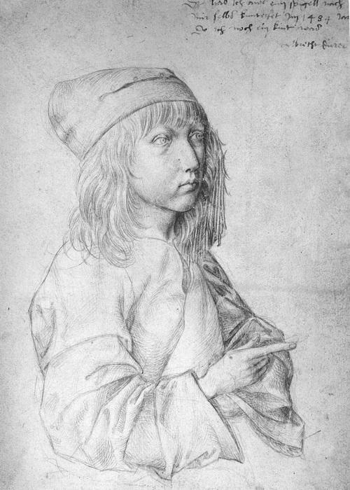 Первый автопортрет Дюрера, выполненный в 13 лет. Автор А. Дюрер. ¦ Фото: wikiart.org.