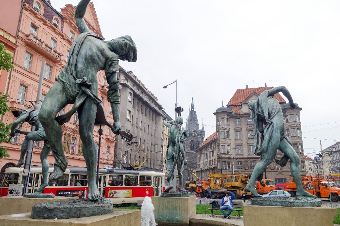 Фонтан Чешские музыканты. Автор: скульптор Анна Хроми. ¦ Фото: livejournal.com.
