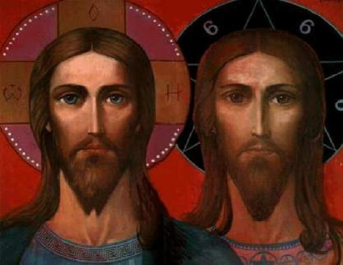 Лики Христа и Антихриста, символизирующие Добро и Зло. Автор: И.С. Глазунов
