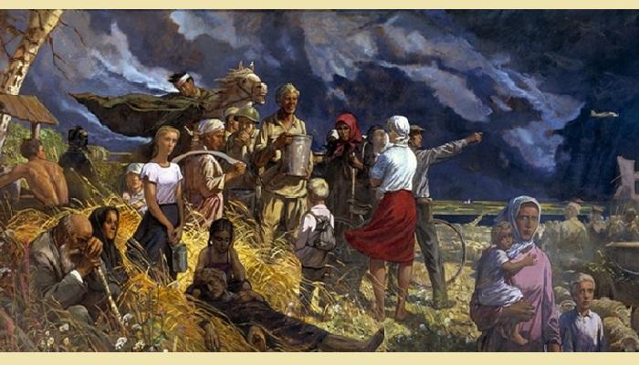 Дороги войны. Авторская копия дипломной работы.(1985). Автор: И.С. Глазунов