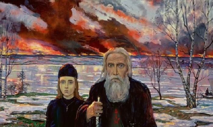 Сергий Радонежский и Андрей Рублев. (1992). Автор: И.С. Глазунов