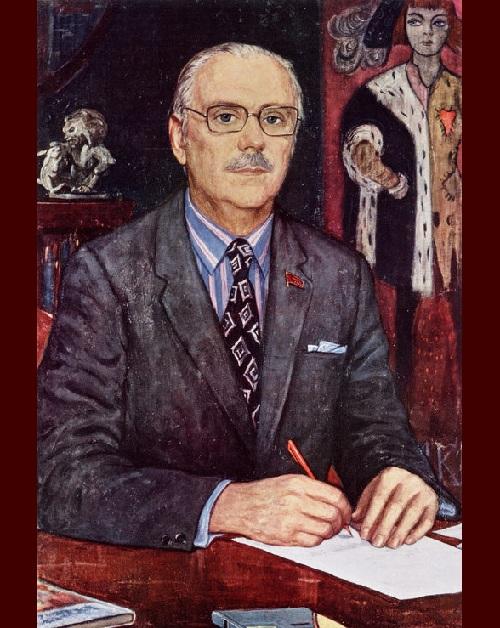 Портрет Сергея Михалкова.  (1988). Автор: И.С. Глазунов