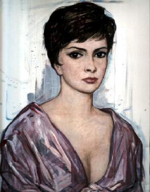 Джина Лоллобриджида. (1963).  Автор: И.С. Глазунов
