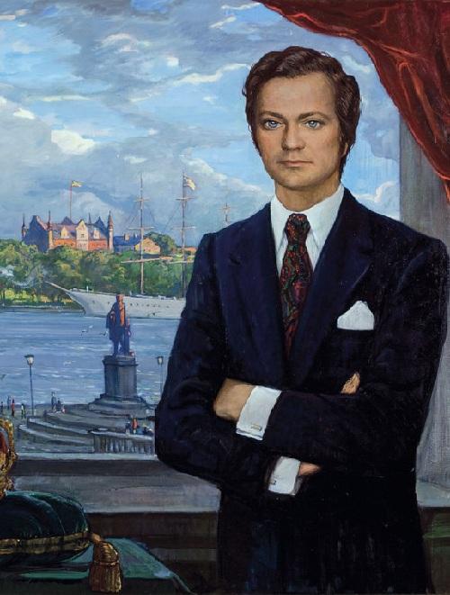 Портрет короля Швеции Карла XVI Густава. (1974) Автор: И.С. Глазунов