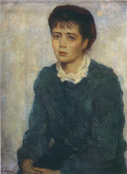 Нина Виноградова-Бенуа - жена художника. (1955). Автор: И.С. Глазунов