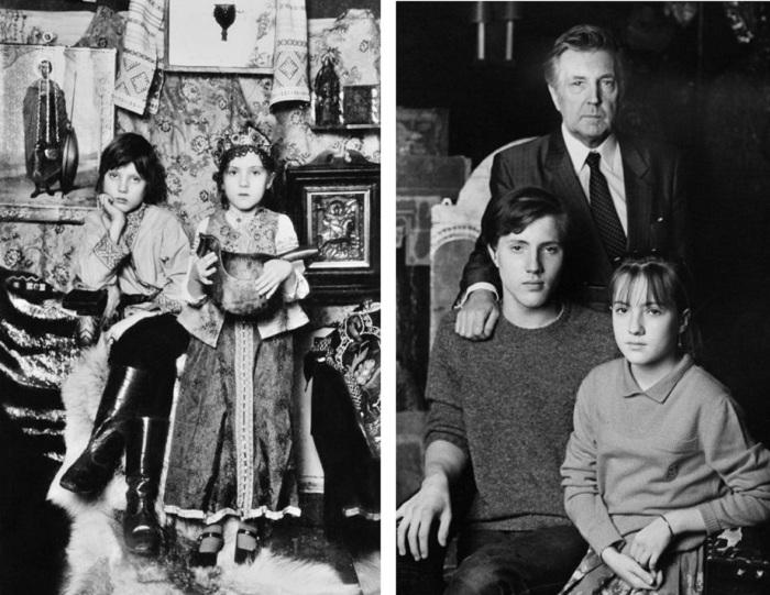 Ваня и Вера   / Илья Глазунов и его дети Иван и Вера 1986год  | Фото:  glazunov.ru