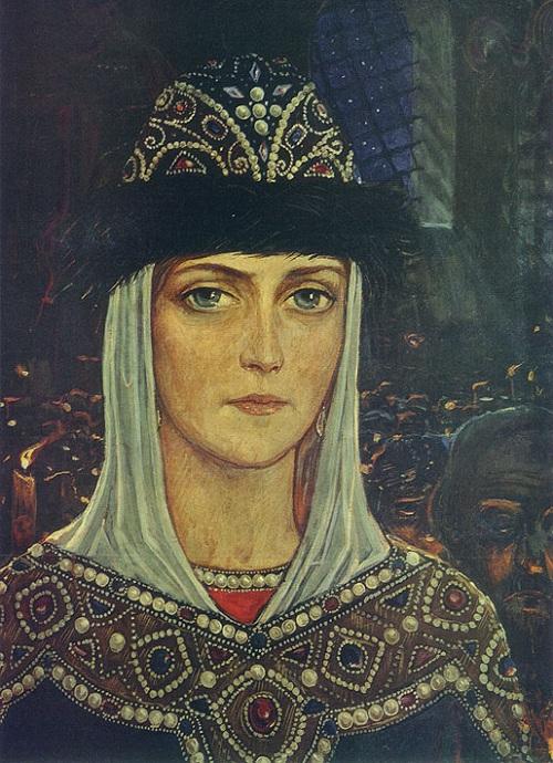 Княгиня Евдокия в Храме. (1977) Автор: И.С. Глазунов