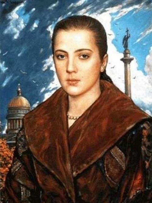 Вера Глазунова, дочь художника.(1994) Автор: И.С.Глазунов