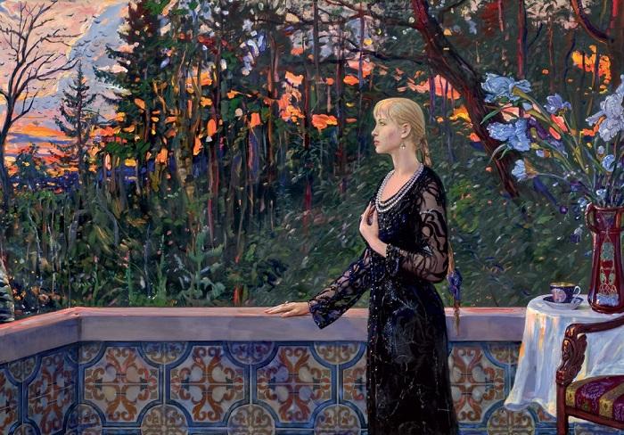 Портрет Инессы Орловой. «Канун». 1917год (2003). Автор: И.С. Глазунов