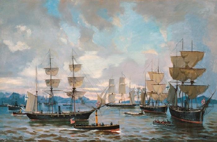 Российский флот у берегов Америки во время Гражданской войны в 1862–63 годах.