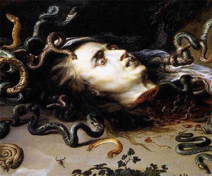 Голова горгоны Медузы .(1617-1618). Автор: Питер Пауль Рубенс