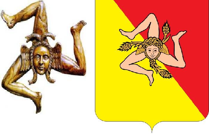 Эмблема острова Сицилия.