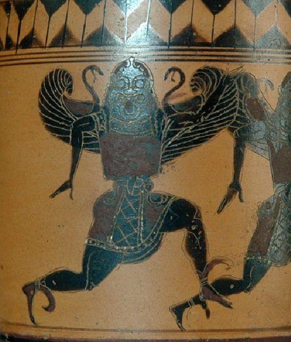Горгоны. Античная вазопись.