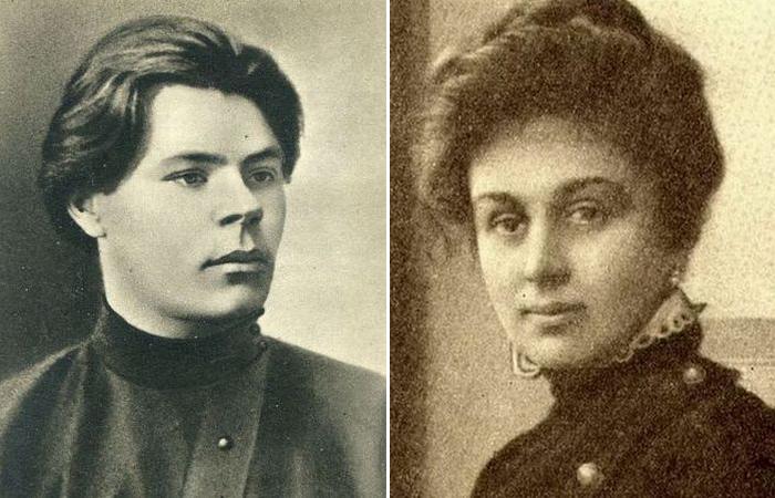Максим Горький./ Мария Андреева.