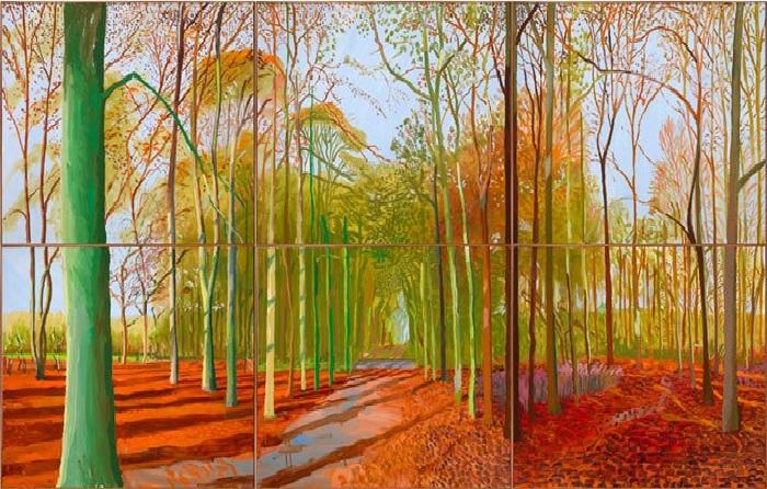 Пейзажи Йоркшира.Woldgate Woods. (2006). Автор: David Hockney.