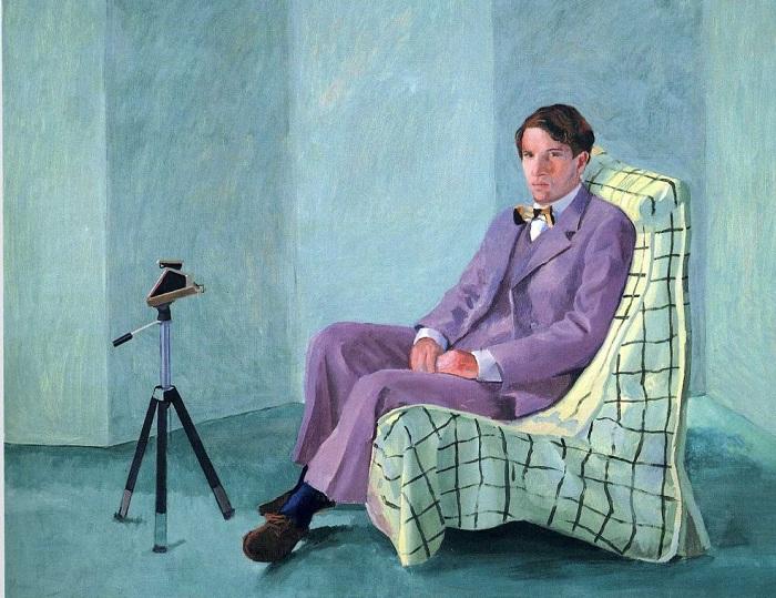 Питер Шлезингер. Автор: David Hockney.