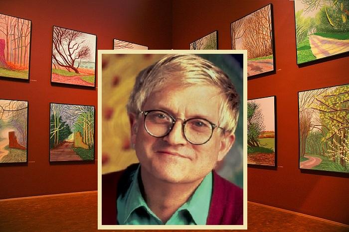 Англо-американский художник современности Дэвид Хокни.