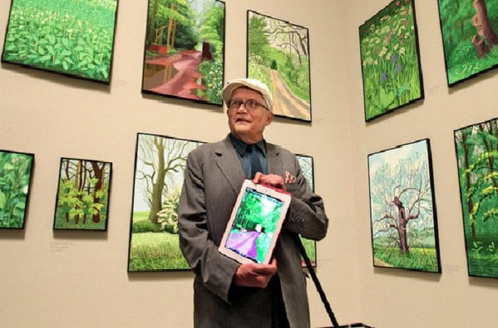 80-летний Дэвид Хокни - самый влиятельный художник Британии в ХХ веке.