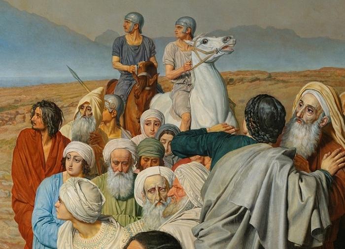 «Римские кавалеристы» Фрагмент.