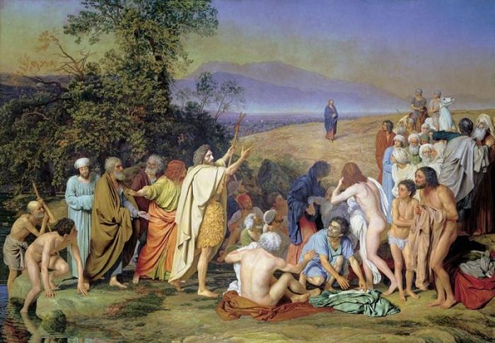 «Явление Христа народу». (1837-1957). Автор: Александр Иванов.