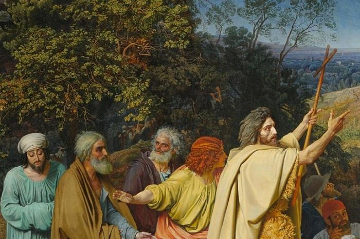 «Иоанн Креститель и апостолы». Фрагмент.