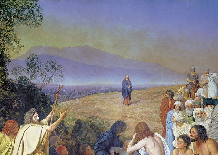«Явление Христа народу». (1837-1957).  Фрагмент. Автор: Александр Иванов.