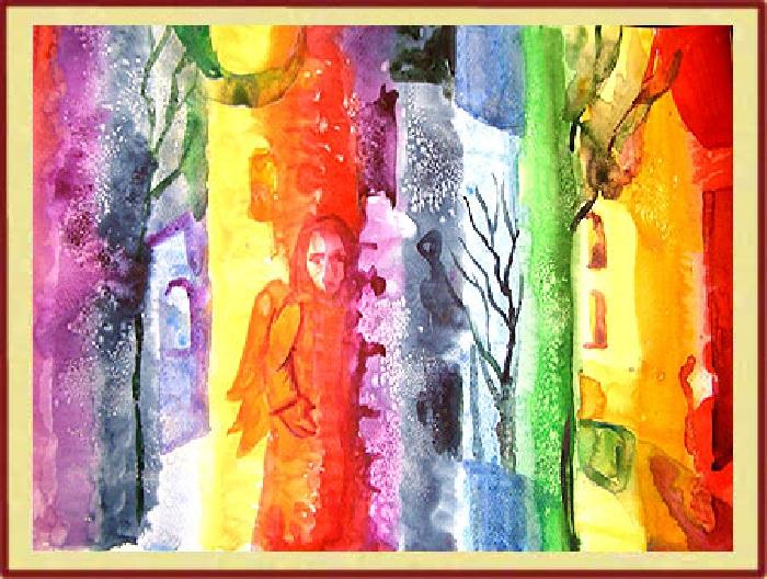 Лечебная живопись, уравновешивающая энергетический баланс, от Оксаны Бодиш. | Фото: astra-lit.com.