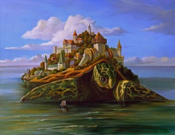 Странствующий остров. (2002). Автор: Анатолий Леушин. | Фото:art-vernissage.ru.