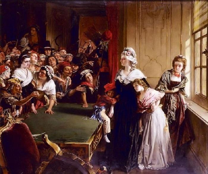 Королевская семья в окружении повстанцев. | Фото: dotart.info.