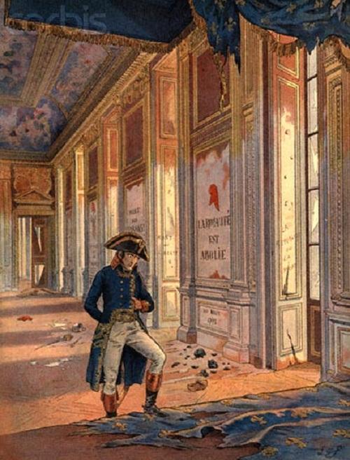 Наполеон во дворце Тюильри после разгрома. | Фото: dotart.info.
