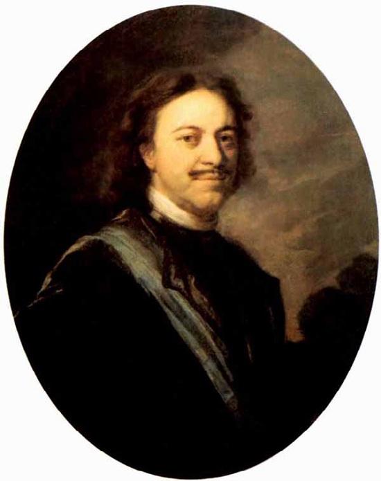 Портрет Петра I.  Автор: А.Матвеев.